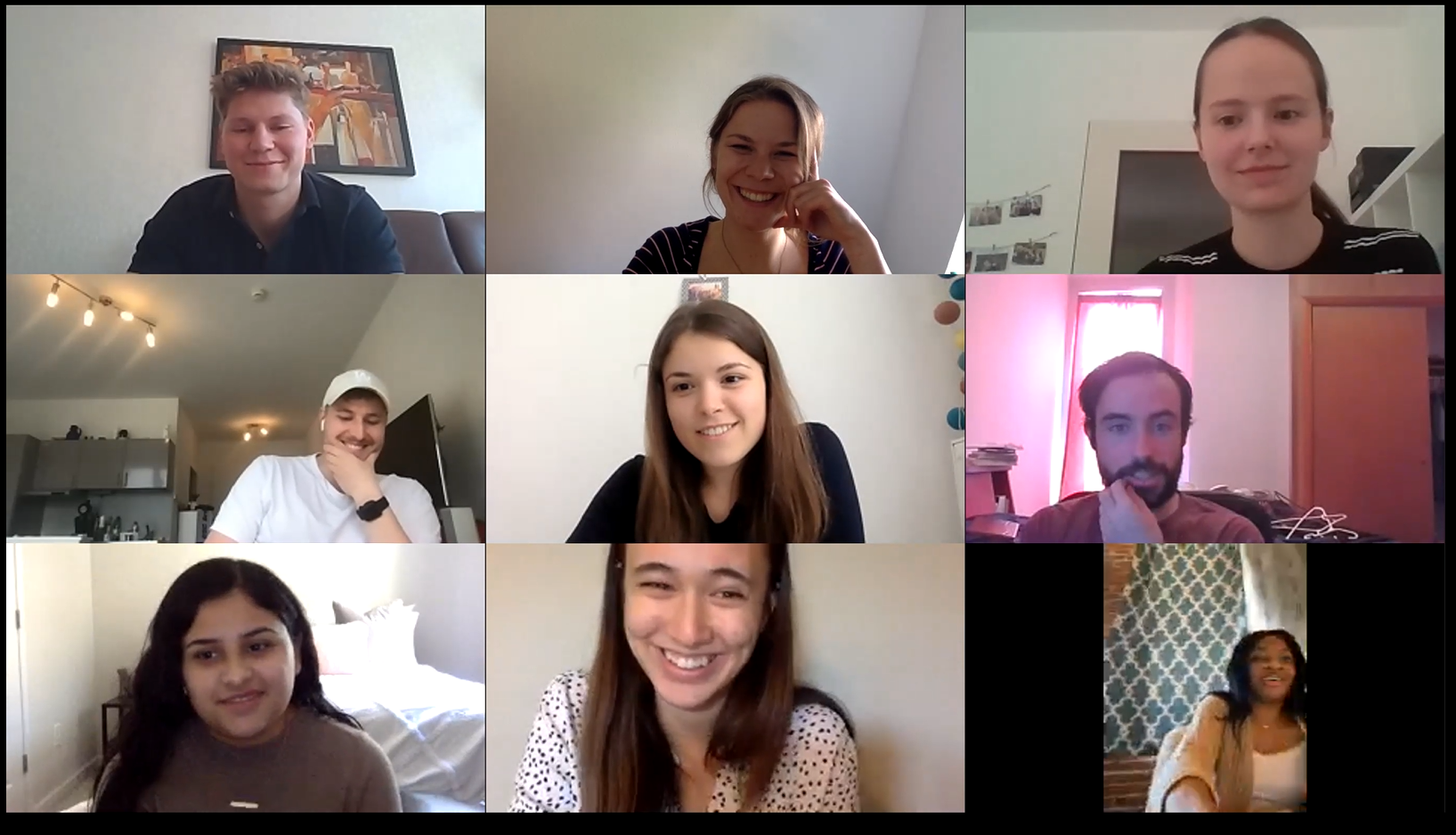 First international collaboration on Zoom